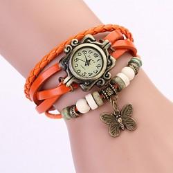 Smykkeur orange m. sommerfugl
