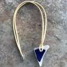 Sea Glass unika-smykke - blåt på hvidt