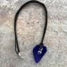 Sea Glass blåt med hjerte