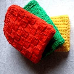 Håndstrikkede karklude
