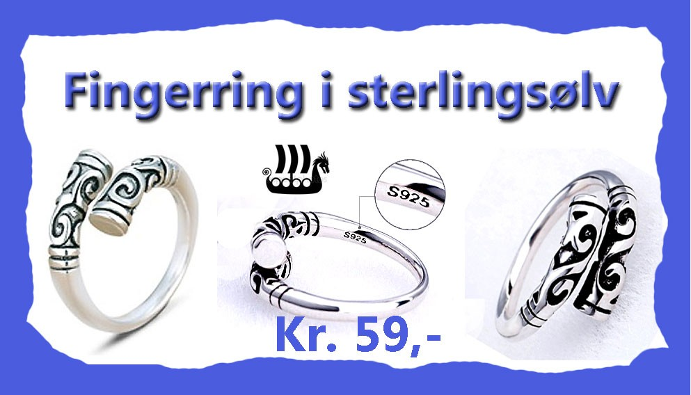 Ring i sterlingsølv